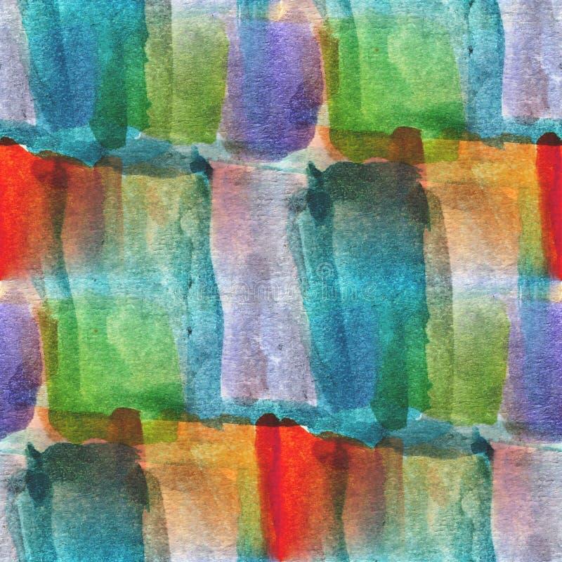 Textured błękit, zieleń, czerwony bezszwowy paleta obrazek royalty ilustracja