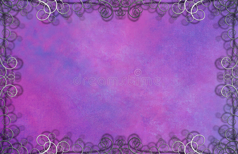 Textured Background with Flourishes. Violet Textured Background with Flourishes royalty free illustration