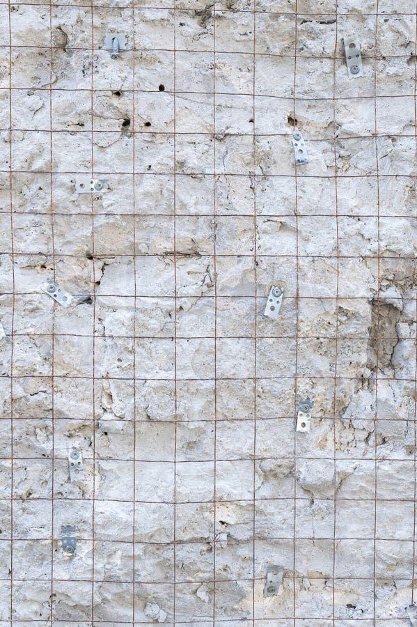 Textured background of large masonry natural stone large stone blocks. Stylish designer background stock photo