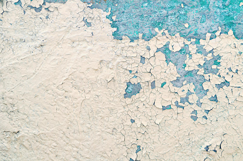 Textured background - peeling paint on old concrete stock images