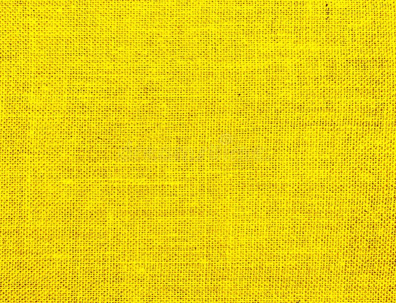 Textured background of yellow natural textile stock illustration