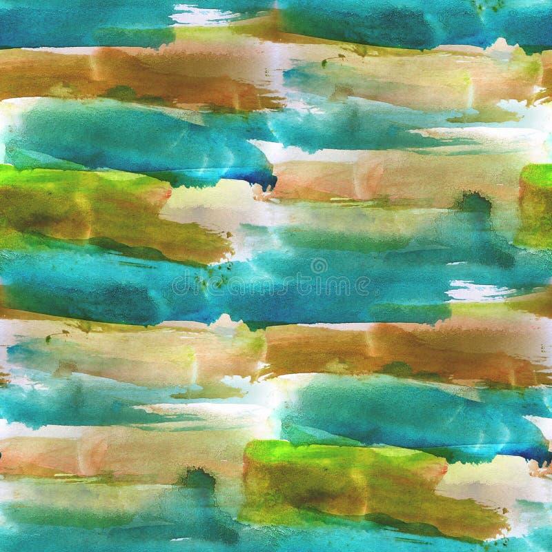 Textured bezszwowy błękitny, brown paleta obrazek, ilustracja wektor