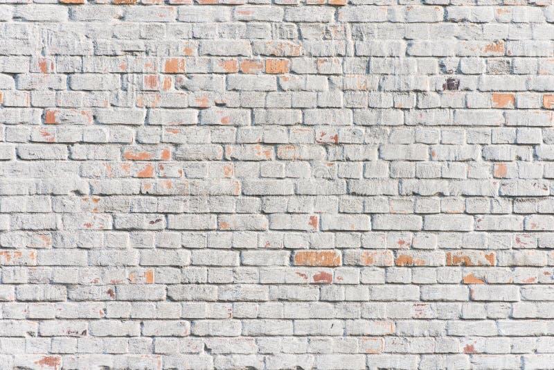 Textured biały ściana z cegieł obrazy stock