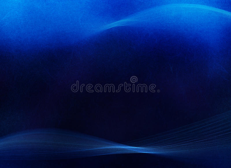 Textured Blue Swoosh Background. Deep blue, textured background with traces of light blue and white swooshes on top and bottom royalty free stock images