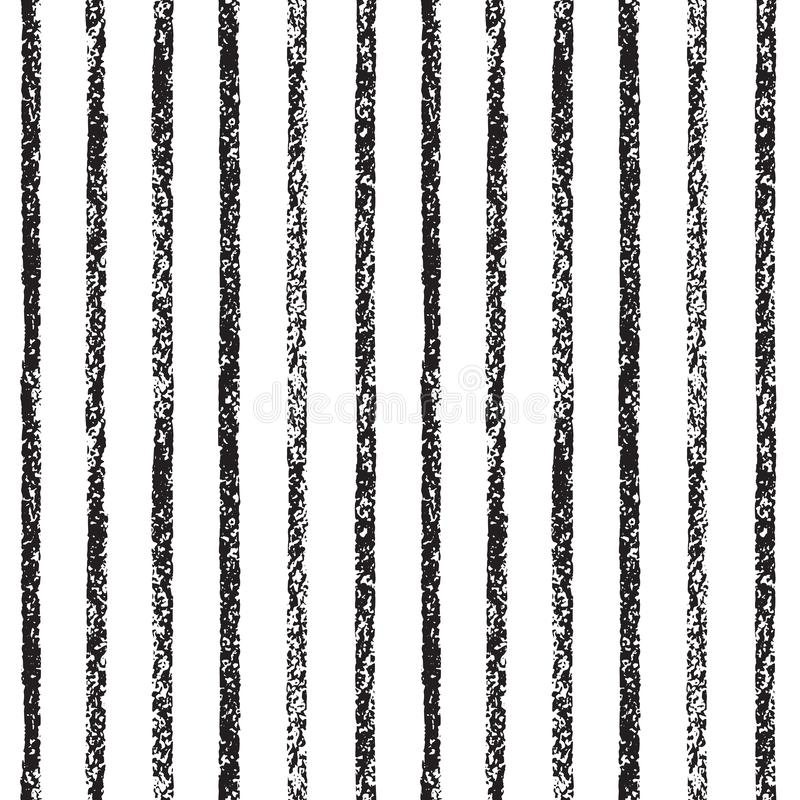 Textured chalk, pastel drawn stripes seamless background stock illustration