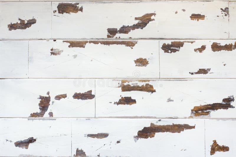 Textured drewniany tło, stara biel powierzchnia z przetartą teksturą drewno zdjęcie stock