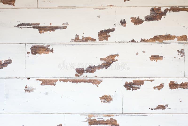 Textured drewniany tło, stara biel powierzchnia z przetartym textur obrazy stock