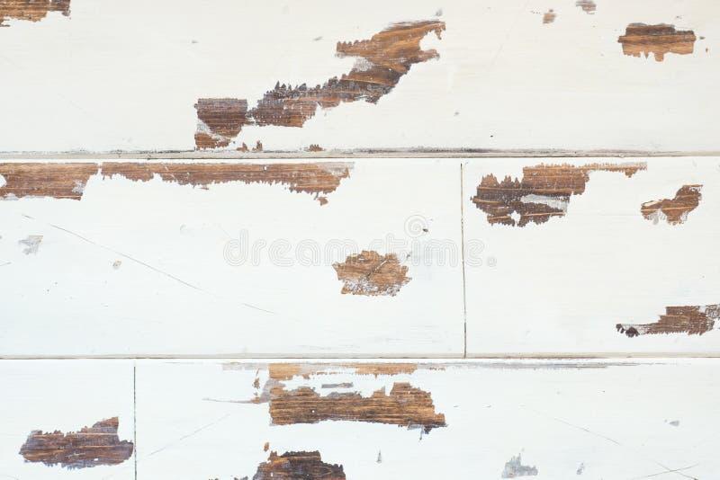 Textured drewniany tło, stara biel powierzchnia z przetartym textur zdjęcia stock