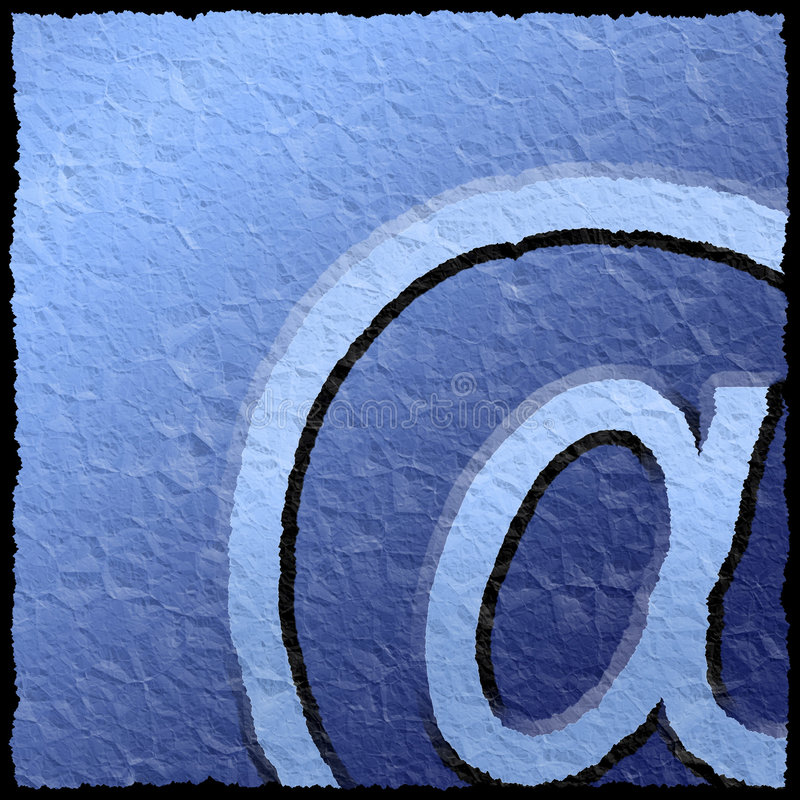 Textured email sign stock illustration
