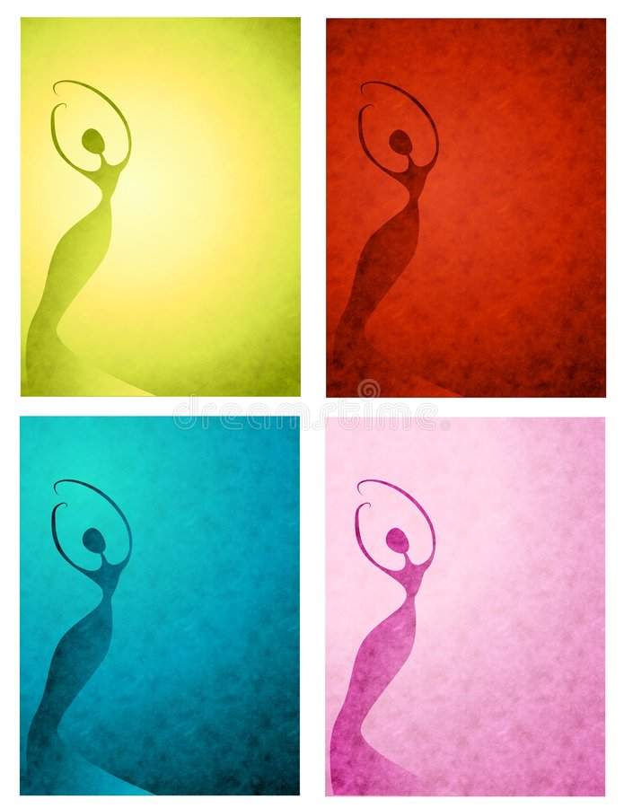 Download Textured Female Silhouettes Stock Illustration - Illustration of background, unique: 5402878