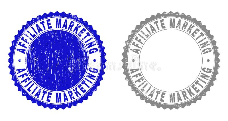 Textured filia marketingu Porysowani Watermarks z faborkiem royalty ilustracja