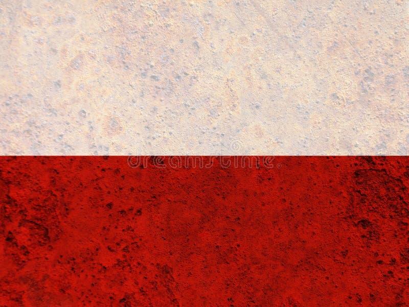 Textured flaga Polska w ładnych kolorach zdjęcia royalty free