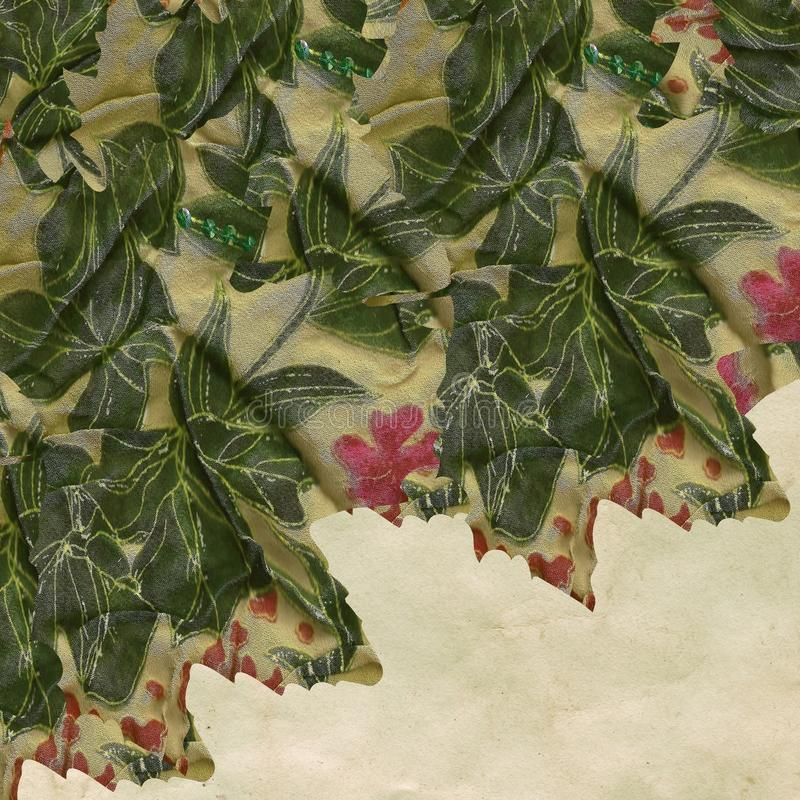 Download Textured floral fabric stock photo. Image of leafy, corner - 22529698
