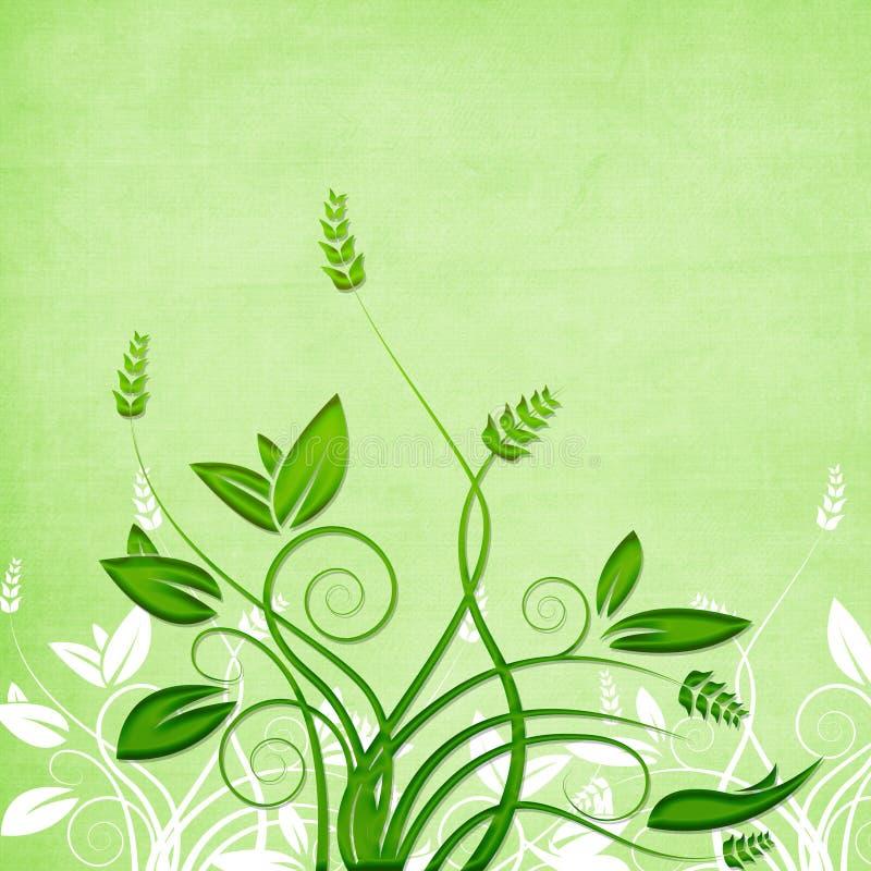 Textured foliage vector stock illustration