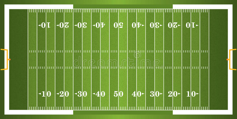 Textured Grass American Football Field royalty free stock image