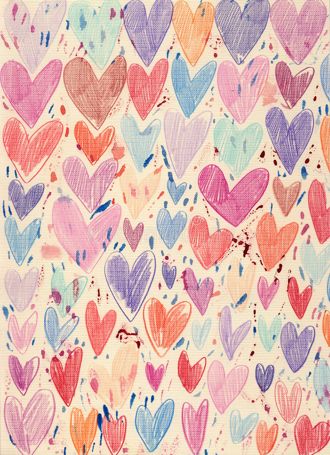 Download Textured Hearts Background stock illustration. Image of pink - 7564314