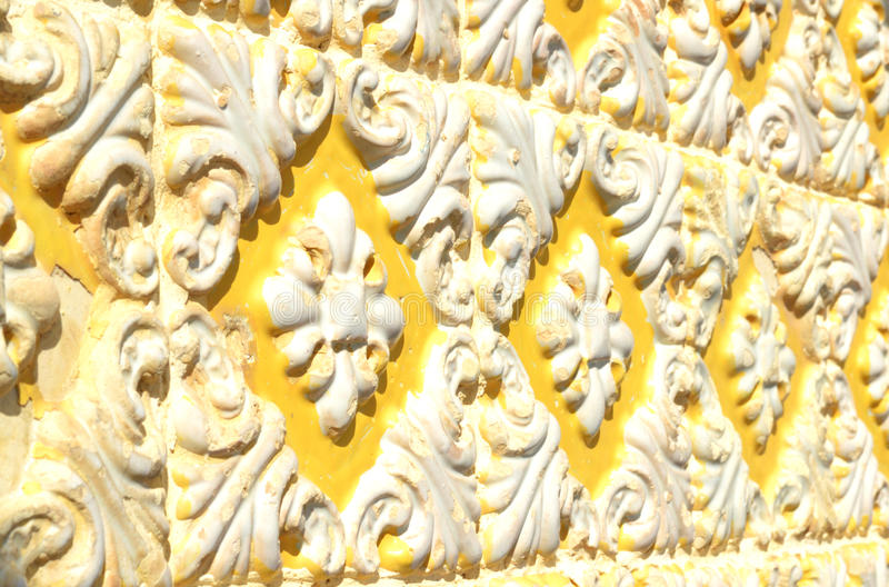 Textured Old Portuguese Tiles. Vintage portuguese textured yellow tiles on an exterior wall on Figueira da Foz, Portugal stock images