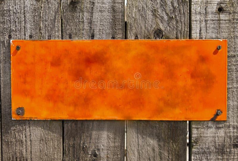 Textured orange rusty metal background, blank surface.. royalty free stock photos