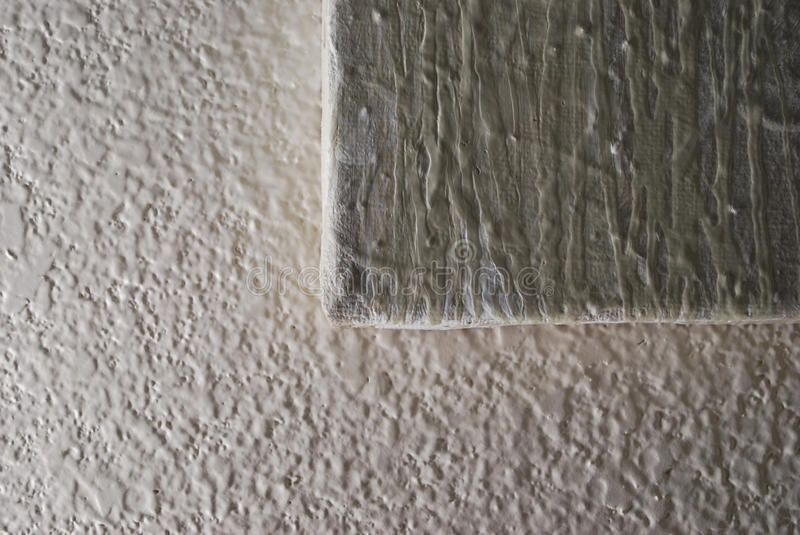 Textured Painting On Textured Wall royalty free stock photos