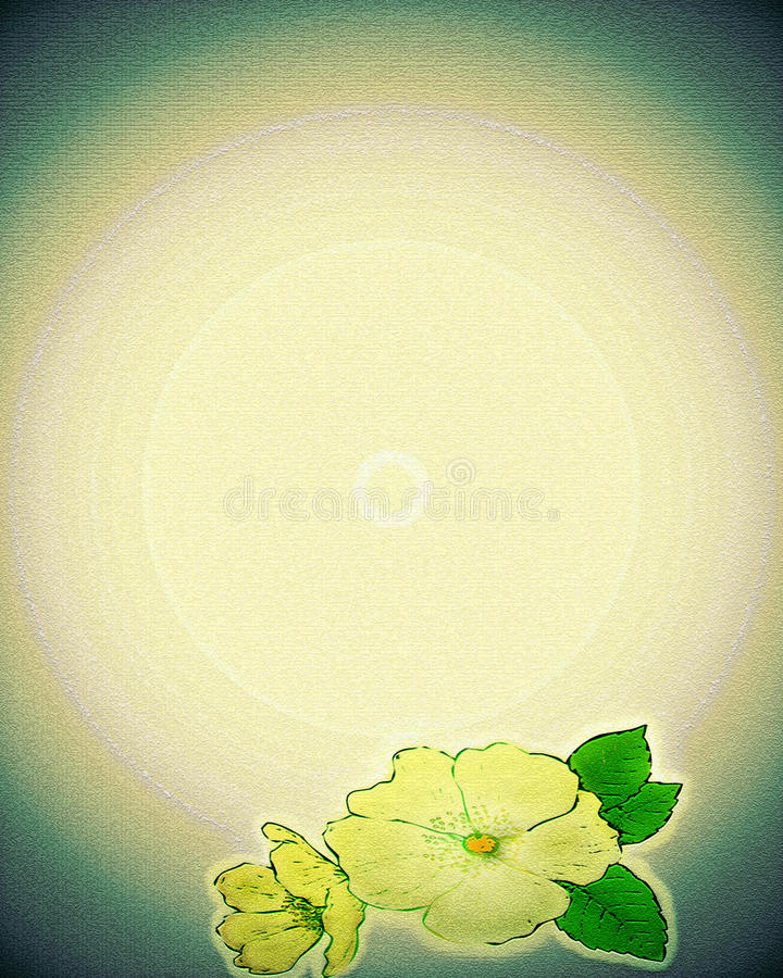 Textured Paper with Flowers stock illustration