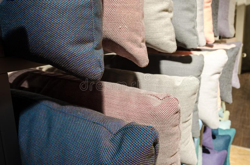 Textured poduszka rzędy obraz stock