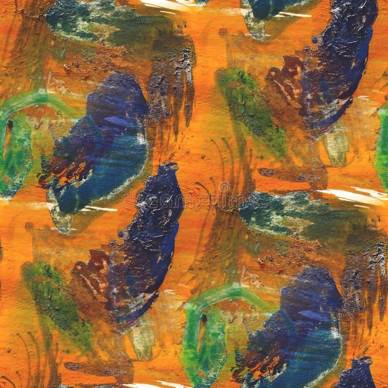 Textured pomarańcze, purpurowy bezszwowy paleta obrazek ilustracji