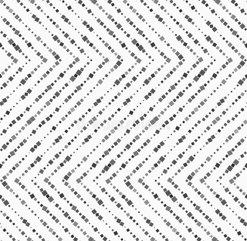 Textured with random squares horizontal zigzag royalty free illustration