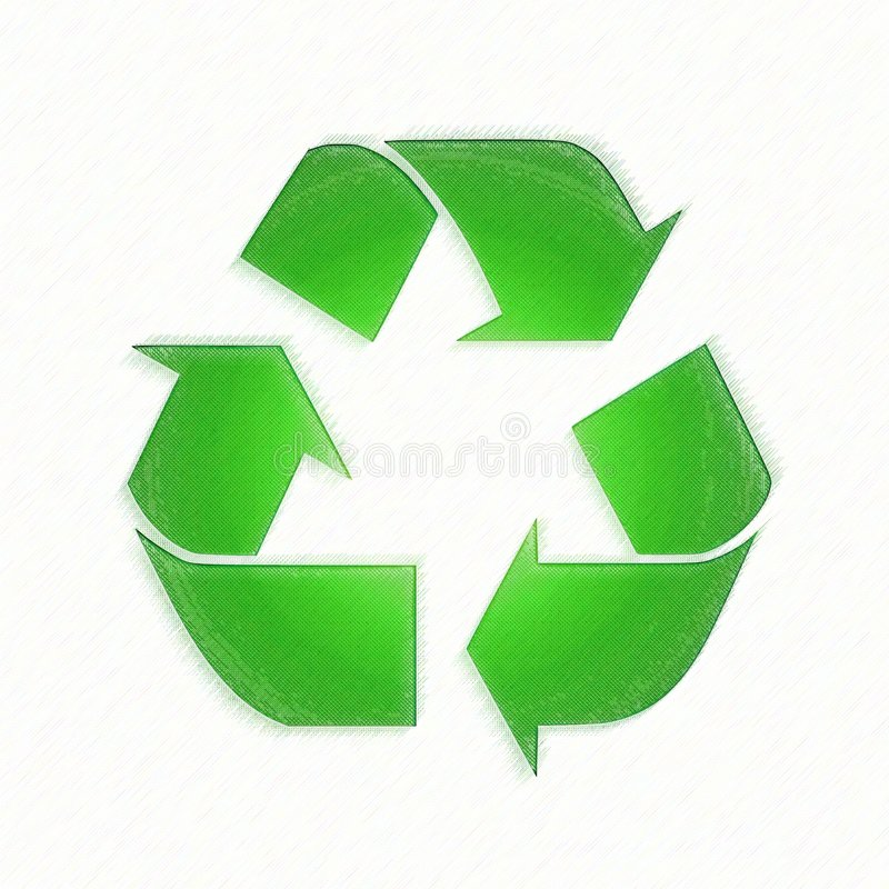 Textured recicle el símbolo libre illustration