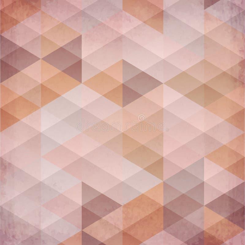 Textured roczników trójboków beżowy wektorowy tło royalty ilustracja