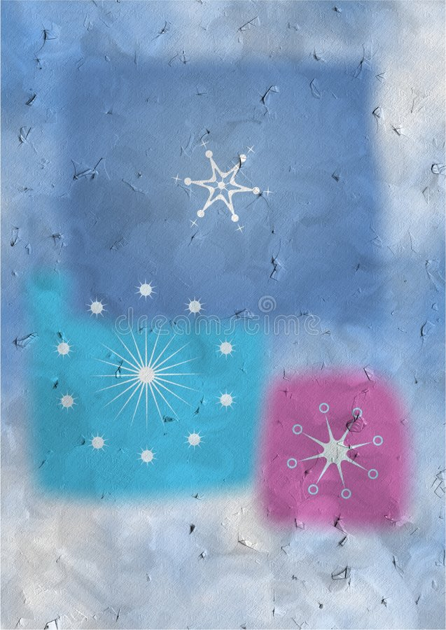 Textured snowflakes royalty free stock images