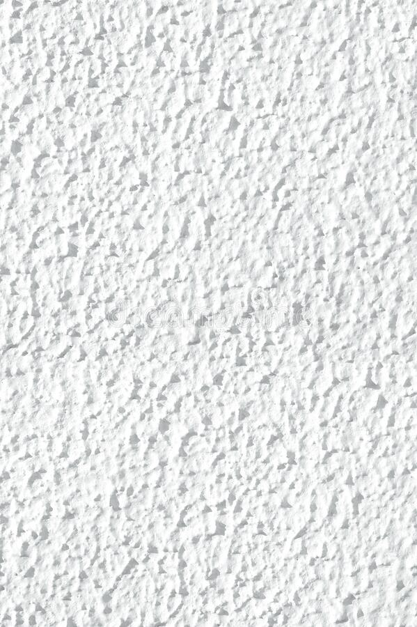 Textured surface coat plaster walls white color.  stock image