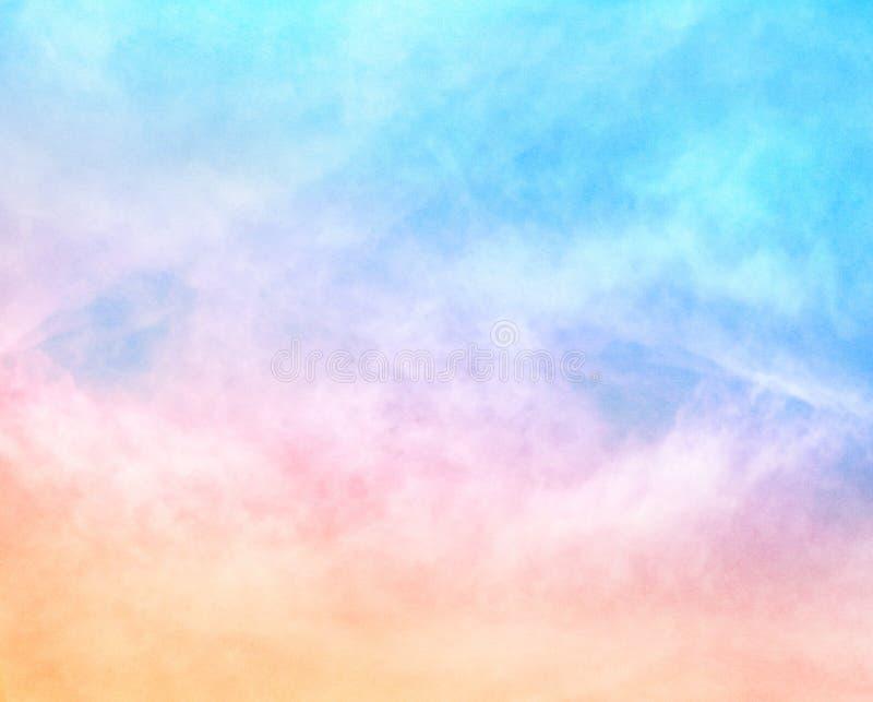 Textured tęcz chmury fotografia stock