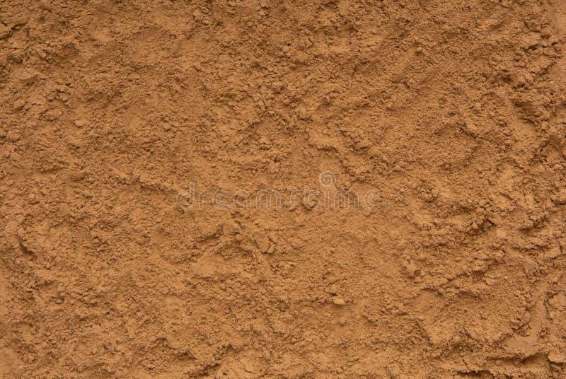 Textured tła są z piaska, zbliżenie ziemia, kolor żółty s zdjęcie royalty free