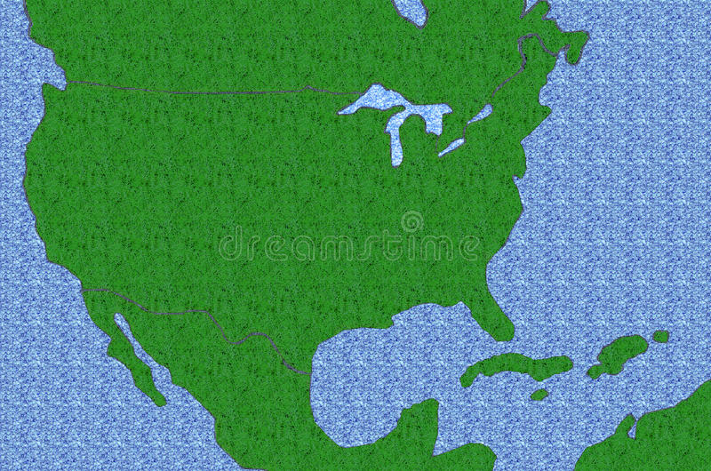 Download Textured USA Map stock illustration. Illustration of grass - 25304392