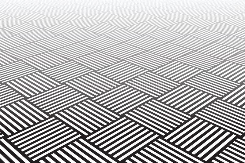 Textured verificou a superfície. Fundo geométrico abstrato. ilustração stock