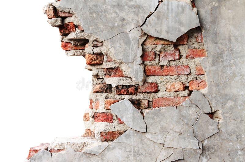 Textured wall with brick stock photos