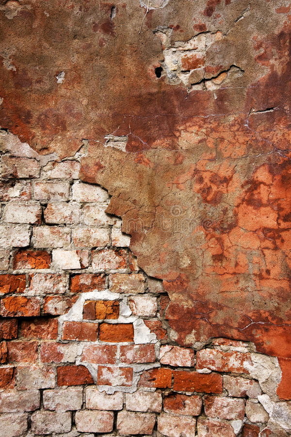 Textured Wall With Brick And Stucco Stock Photo Image Of