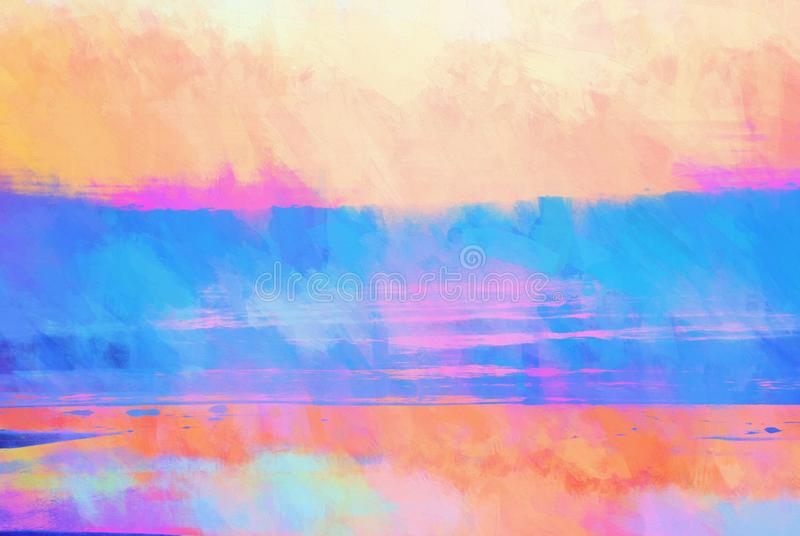 Textured Watercolor Background in Sunrise Colors vector illustration