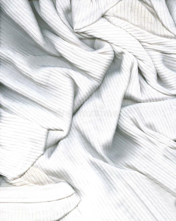Textured White Shirt royalty free stock image