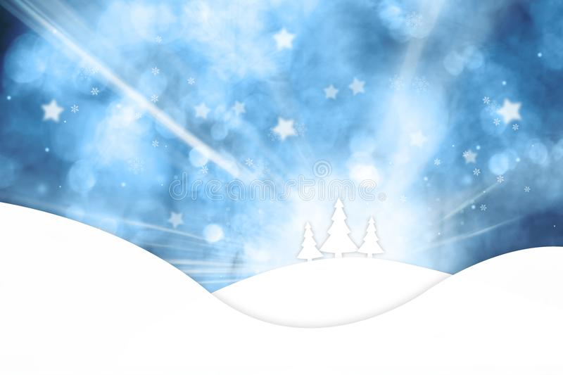 Wooden boards with snowflakes background royalty free illustration