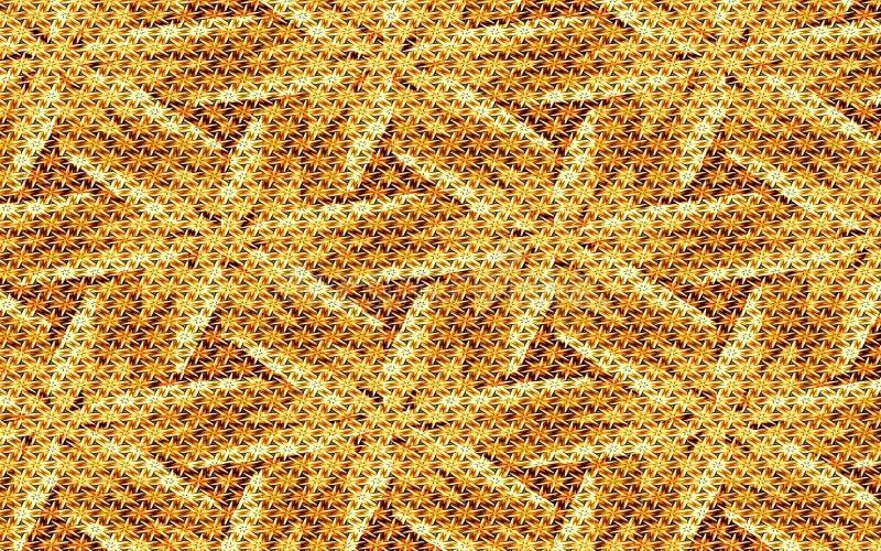 Textured Złoty kwiecisty abstrakcjonistyczny tło szorstka sukienna tekstura dla twój kreatywnie projektów ilustracja wektor