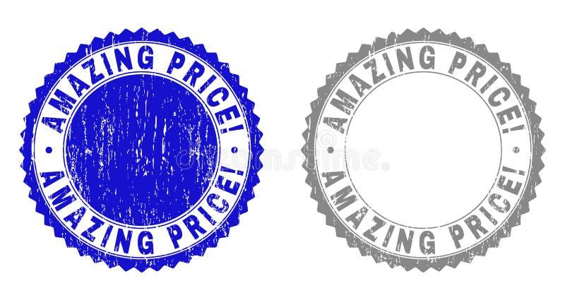 Textured ZADZIWIAJĄCA cena! Grunge znaczka foki ilustracja wektor