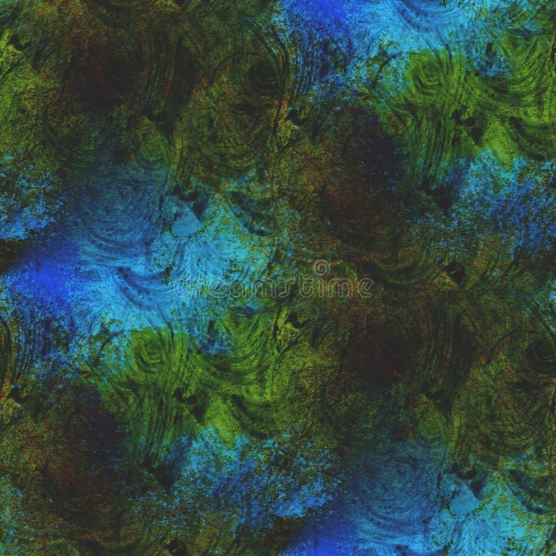 Textured zieleń, błękitna bezszwowa pojęcie paleta ilustracja wektor