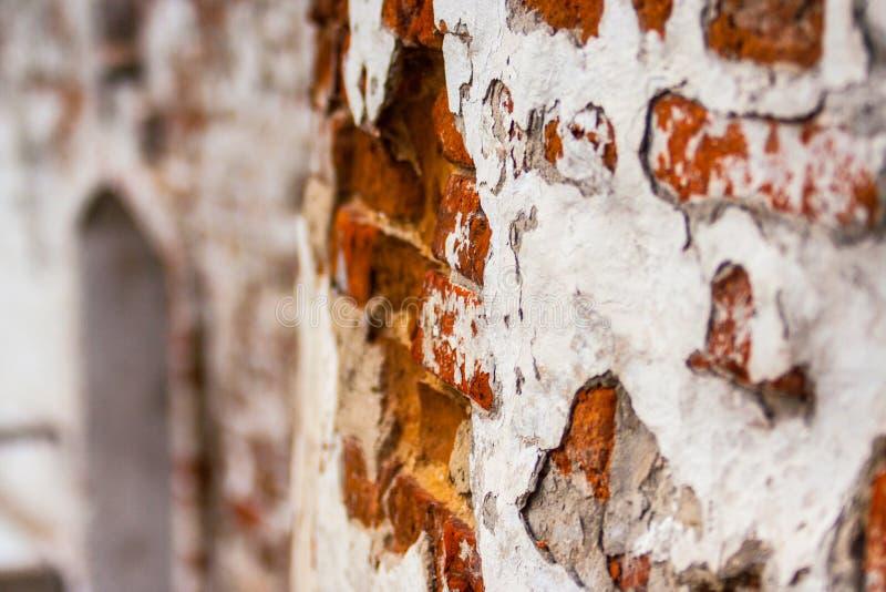 """Texturen av â€en för arkitektur för gammal sten för tegelstenar traditionell den historiska """"väggen av byggnaden i den Tobolsk Kr royaltyfri foto"""