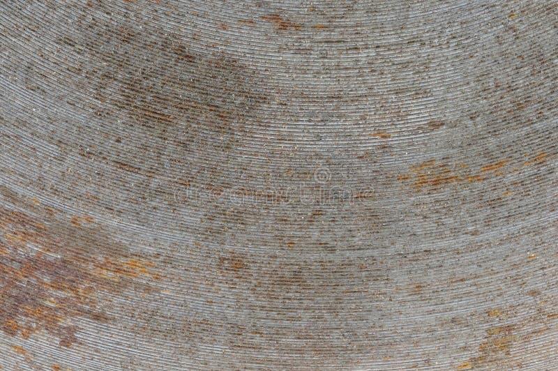 Texturen av järnbanden i en båge, gammalt som är rostig fotografering för bildbyråer