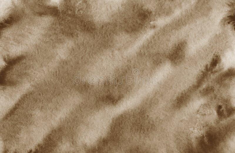 Texturen av tapeten för tryck för design för konst för papper för brunt för kaffefärgstänkbakgrund stock illustrationer
