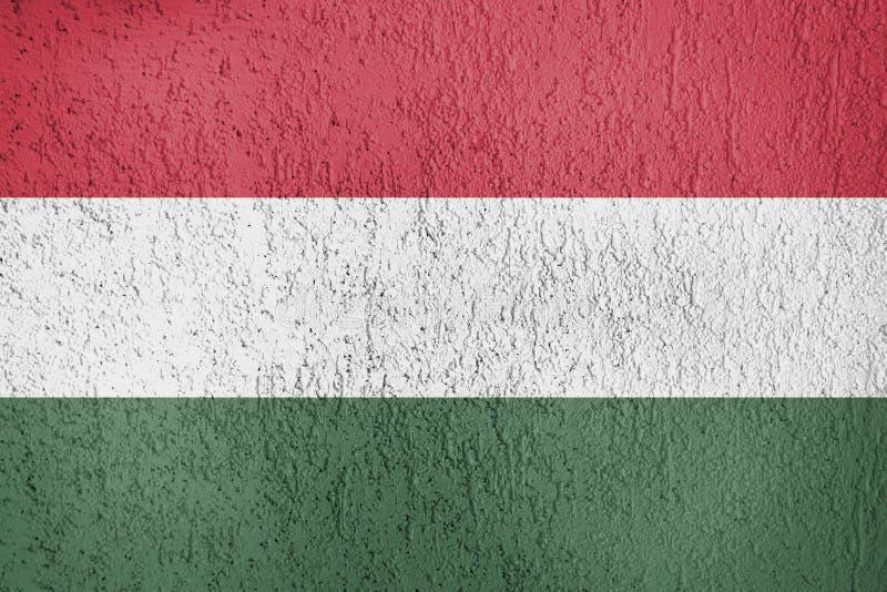 Texturen av Ungernflaggan vektor illustrationer