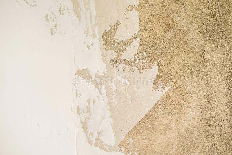 Texturen av väggen - cement, murbruk, spackel royaltyfri foto