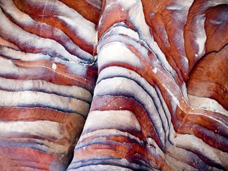 Texturen in Petra, Jordanië stock afbeeldingen