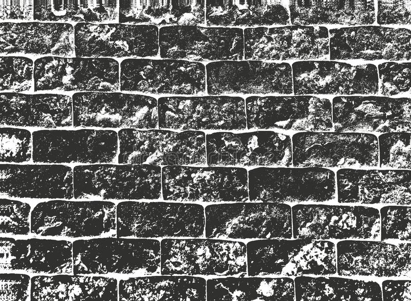 Texturen van de nood de oude bakstenen muur EPS8 vector vector illustratie